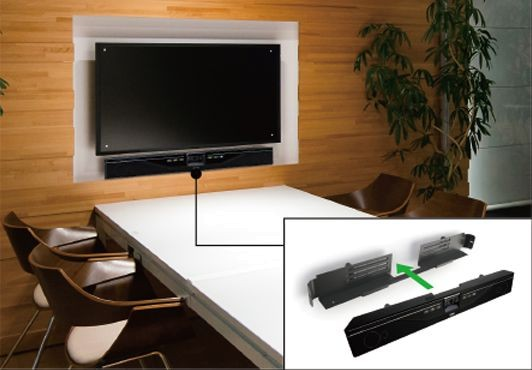 Yamaha CS-700AV Soundbar mit Webcam, Finish: Schwarz, für Kollaborationen