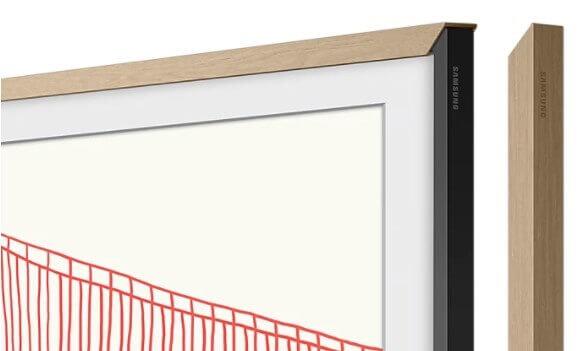 """Samsung Zubehör: The Frame 55"""" VG-SCFA55TKBXC passend zu Modell 2021 Holzimitat teak"""