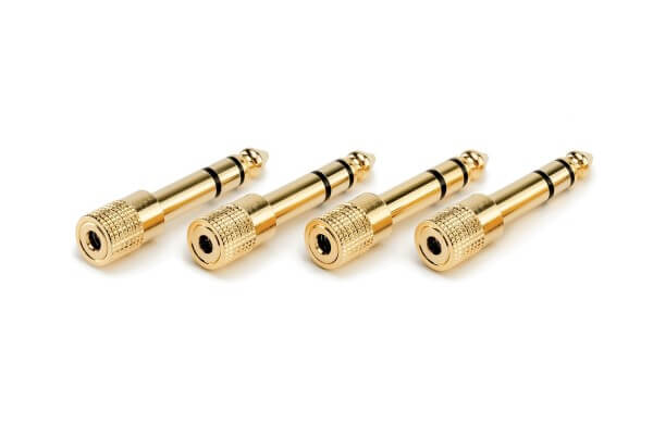 Røde HJA-4, vier Stereokopfhörer-Adapter (3,5 mm TRS auf 6,35 mm TRS)