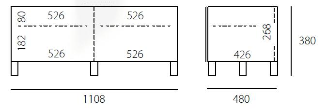 JRL1100S-Abmessungen