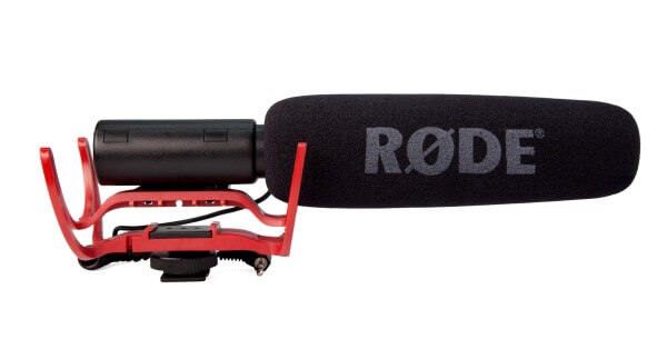 Røde VideoMic Pro+, Premium-Kamera-Richtmikrofon, mit Rycote®-Schwinghalterung, Akku-/Batteriespeisu