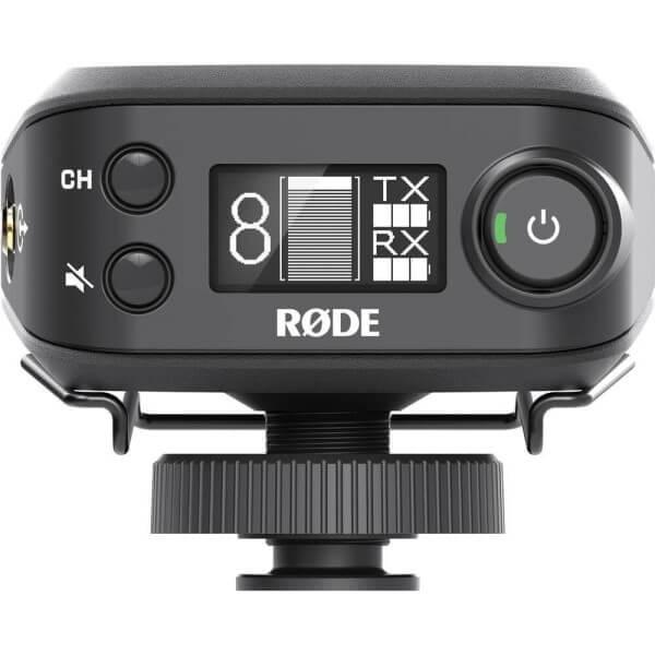 RØDELink RX-CAM, Digital-Empfangsmodul für RØDELink-Funkstrecke, mit Blitzschuhadapter und Gürtelcli