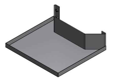Robolift Ablage Zubehör für Rollwagen oder Display-Ständer