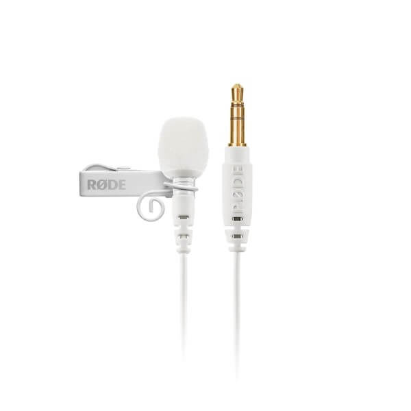 Røde Lavalier GO White, weißes Lavalier-Mikrofon mit 3,5 mm TRS Anschluss