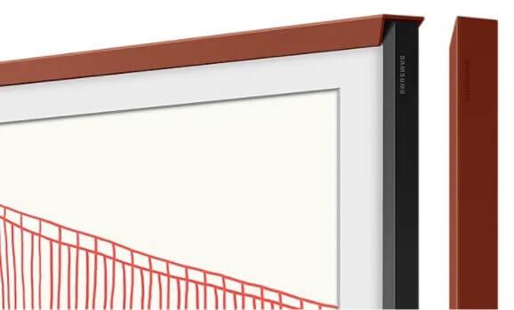 """Samsung Zubehör: The Frame 55"""" VG-SCFA55TRCXC passend zu Modell 2021 Rahmen Terracotta"""