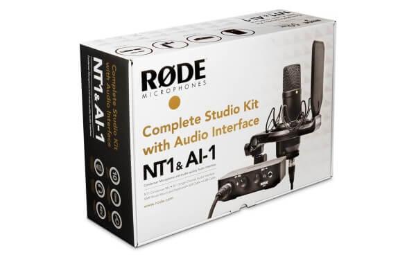 Røde NT1AI1-KIT, Complete Studio Kit: Audio-Interface AI-1, Mikrofon NT1, Spinne SMR inkl. Popschutz
